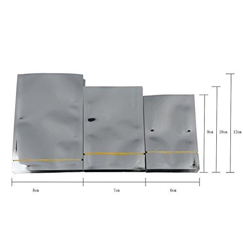 er Aluminium Folie Mylar Tasche Vakuumiergerät Lebensmittel Aufbewahrung Beutel, approx.8*12cm (Silber Mylar)
