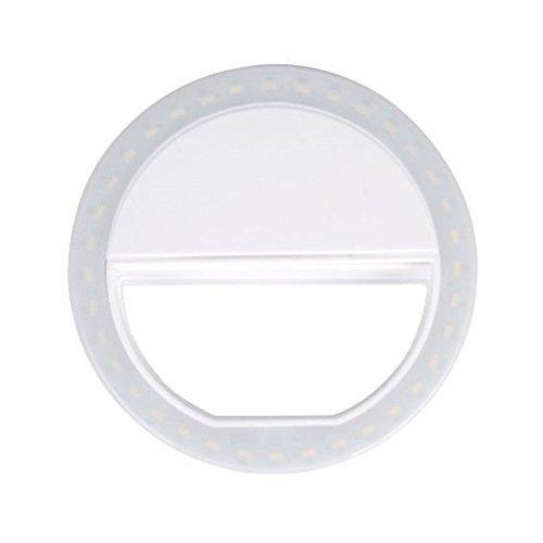 Zomtop Mini Portable LED Fill flash selfie lumière + 3 Filtres pour téléphone portable iPhone Samsung (Blanc)