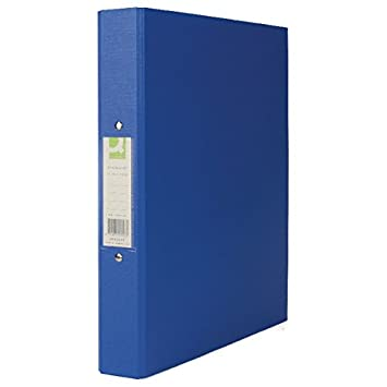 Q-Connect 2 Ring Polypropylene A4 Binder, 25 mm KF02003 - Blue ...