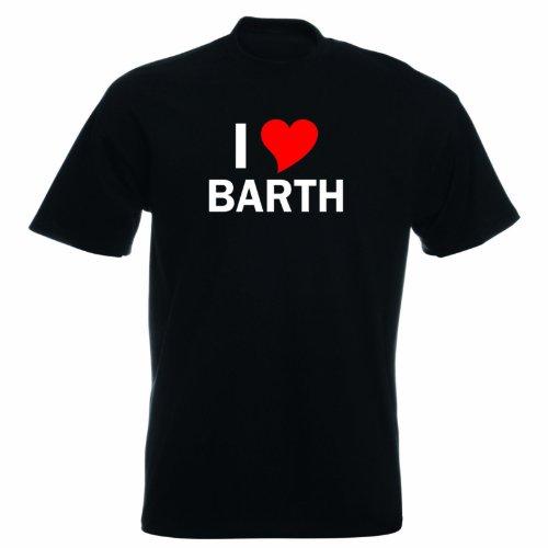 T-Shirt mit Städtenamen - i Love Barth - Herren - unisex Schwarz