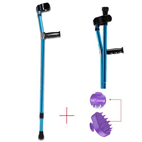 WENTAO Unterarmgehstützen Gehhilfen Faltbar Krücken Paar mit Ellbogenstütze Leichtes Aluminium 15 höhenverstellbar 0,52 kg Maximales Benutzergewicht 100kg,1PCS - Krücken Faltbare