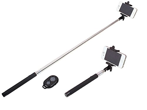 Spice Smart Flo Pace Mi-422 Compatible Ceritfied Professional Portable Selfie Monopod Stick with Bluetooth Remote Wireless Shutter Button ( Assorted Colour )  available at amazon for Rs.249