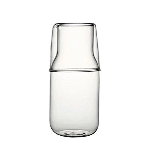 Ja teiera in vetro in stile giapponese con tazza da tè resistente al calore, bottiglia per acqua fredda, tazza da tè, succhi di frutta, latte per una persona, set senza scala, 301-400 ml