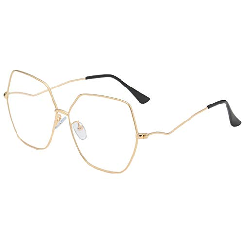 fazry Sonnenbrille für Damen Herren Vintage Retro Brille Unisex große Sonnenbrille Eyewear Gr. Einheitsgröße, B