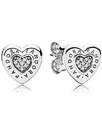 Pendiente de plata con forma de corazón, 297382CZRA