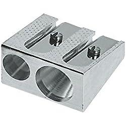 Faber-Castell 50-34 183400-Sacapuntas doble, metálico