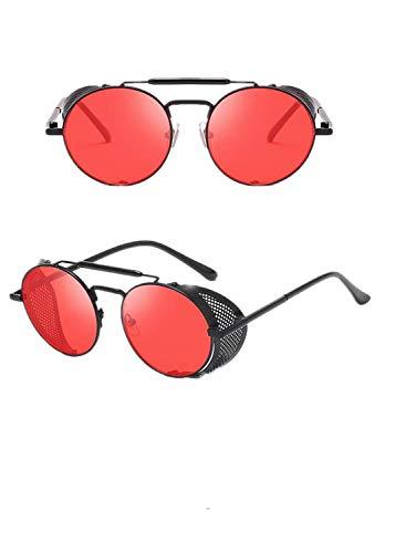 Aoweika Retro reflektierende Steampunk Brille Persönlichkeit Windschutzscheibe Sonnenbrillen Polarisierte Brille für Fahren Angeln Reisen, Acetat-Rahmen