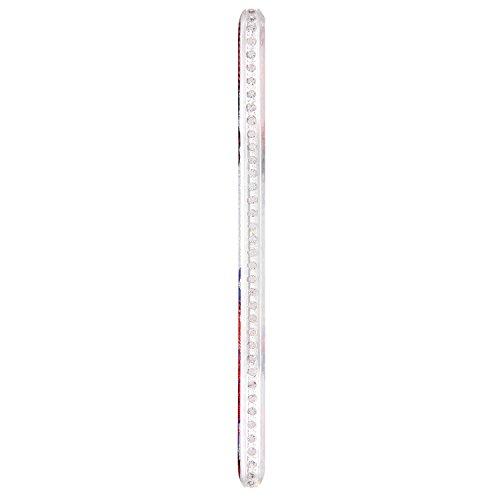 Etsue pour Huawei P10 Plus Coque de Transparent,Belle Crystal Clear Diamant Sparkly Coque Ultra-Mince Housse,Sur Fond Noir avec Rose Blanc Cerise Rosa [Fleur] Motif Soft Silicone Case étui shell pour  éléphant