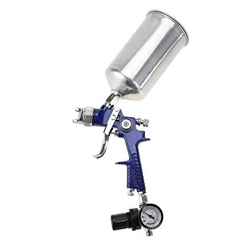 Akozon Pistolas de pintura, Pistola pulverizadora pintura por Presión Alta Gravity, HVLP Neumatico pulverización fina, boquilla 1.4mm, 1000 ml