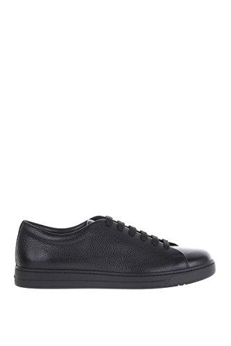Prada Sport Herren 4E29961obcf0002-Mc Schwarz Leder Sneakers (Prada Leder Schwarz)