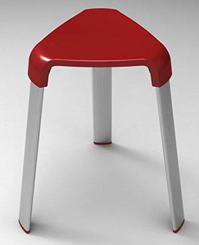 Badhocker Duschhocker Duschstuhl Sitzhocker Duschsitz Hocker Badezimmerhocker (rot)
