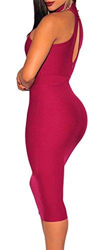 abito donna vestito donna vestito sexy abito aderente abito festa vestito elegante Rosa
