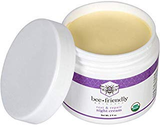 Best Night Cream 100% All Natural & 80% Organic Night Cream By BeeFriendly, Anti Wrinkle, Anti Aging, Deep Hydrating & Moisturizing Night Time Eye, Face, Neck & Decollete Cream for Men and Women by Bee Friendly Skincare -