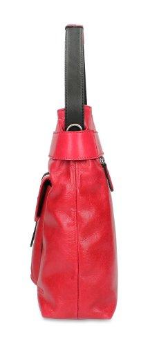 Picard Jona Sac à main - porté épaule cuir 30 cm Rouge