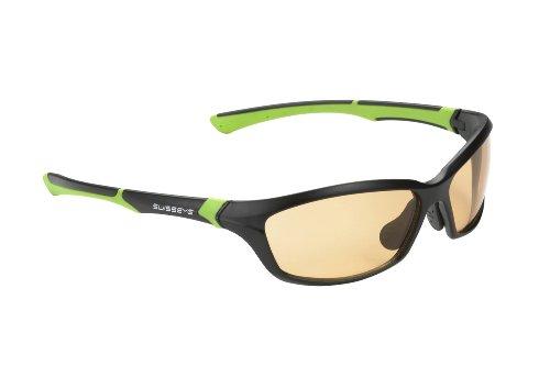 Swiss Eye Sportbrille Drift black matt/green, One Size