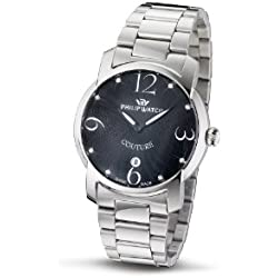 Philip Ladies Couture Analogue Watch R8253198625 with Quartz Movement, Black Dial and Stainless Steel Case