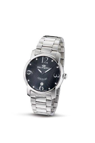 Philip Watch R8253198625 - Reloj de mujer de cuarzo, correa de acero inoxidable color plata
