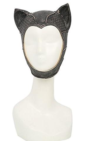 Katzen Maske Cosplay Kostüm Halloween Erwachsene Damen Latex Bronze Voll Kopf Helm Fancy Dress (Kinder Catwoman-kostüm)