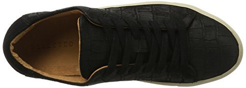 SELECTED FEMME Damen Sfdonna Suede New Sneaker Mehrfarbig (Black)
