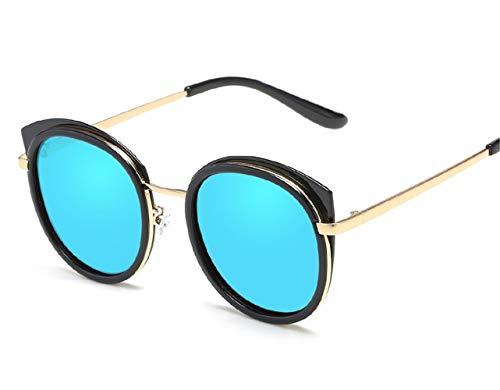Sonnenbrille für Männer und Frauen Polarisierte Sonnenbrille Cat-eye Retro Polarized Glasses Brille (Color : Blue)