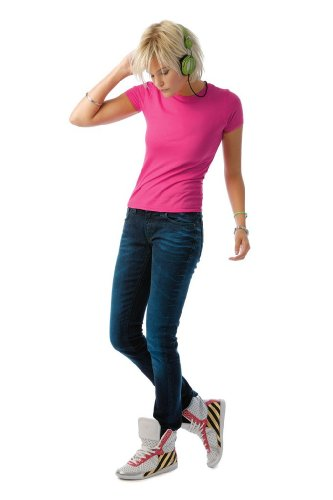 B c &polycoton 'women pC'- only t-shirt pour femme-only tW251  pC Rose - Rose