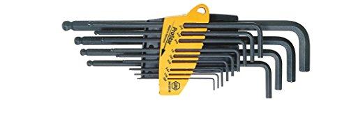Wiha ProStar 369 SZ13B - Set di chiavi a forchetta con testina esagonale rotante, 13 pezzi - Chiave Esagonale 13 Pezzo