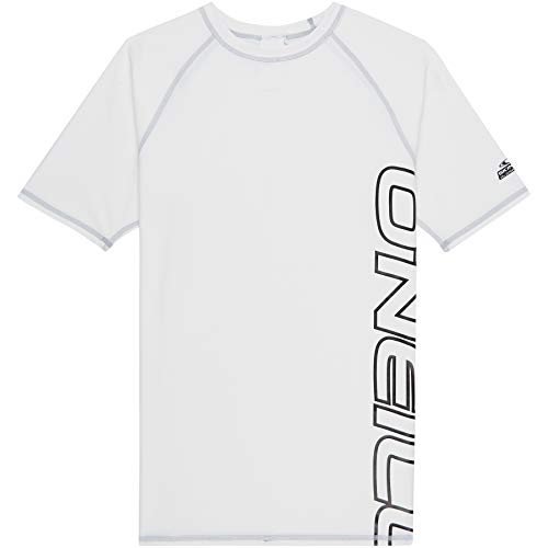 O'Neill Herren PM Short Sleeve Logo UV-Shirt, Weiß (Super White), M (Wasser-logo-t-shirt)