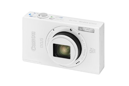 Canon IXUS 510 HS Digitalkamera (10,1 Megapixel, 12-fach opt. Zoom, 8,1 cm (3,2 Zoll) Touch-Display, WiFi, Full-HD) weiß