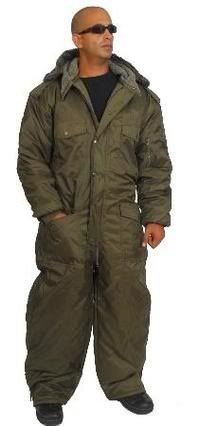 Hagor/dupont Israel IDF Overall Winter Snowsuit Water Resistant Olive Green. Size XXXL by HAGOR -