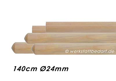 5x Besenstiele aus Kiefernholz 140cm Ø24mm, ohne Konus
