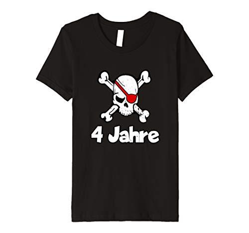 Kinder Geburtstagsshirt 4 Jahre Junge Totenkopf Pirat ()