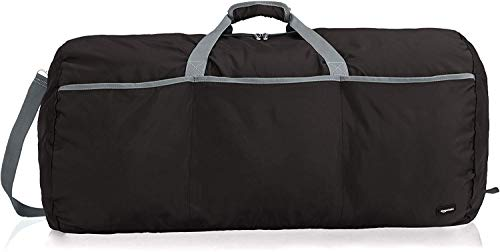 AmazonBasics 98 Ltrs Large Duffel Bag, Black