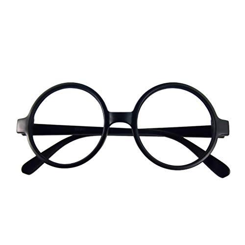 VIccoo Brillengestell, Retro Nerd Style Cute Baby Runde Brillengestell Keine Linsen Candy Farbe Kunststoff Mutter Tochter Cosplay Party Kostüm Eyewear - 5#