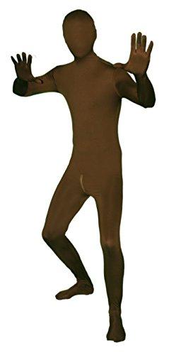 nzug mit Reißverschluss im Schritt! Ganzkörperkostüm / Gruppenkostüm für Karneval in Braun Größe L (Morphsuit Braun)