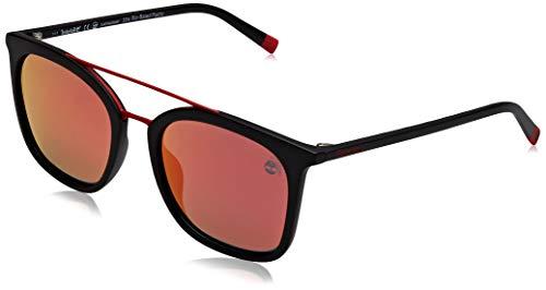 Timberland tb9169 occhiali da sole, black/other/smoke polarized, 53 uomo