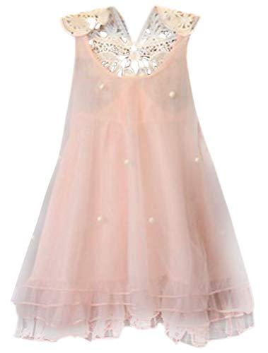 f104000f9 ARAUS Vestido Bebé Elegante Falda de Princesa de Flores Niñas sin Mangas  Boda Fiesta Verano