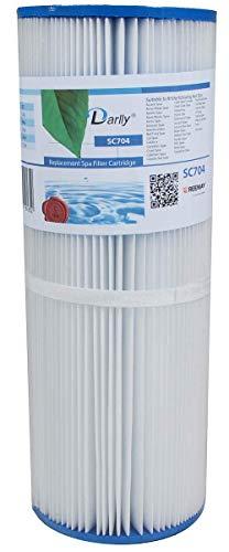 Darlly SC704 - Filtro para jacuzzi (Unicel C-4326, Pleatco PRB251N, Darlly 42513)