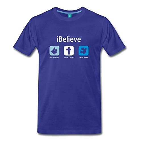 Spreadshirt iBelieve Männer Premium T-Shirt, L, Königsblau