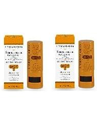 L'Erbolario–Stick Solaire Protection + SPF50+–2boîtes–Zones Sensibles, Vitamine E, hydratant, rides