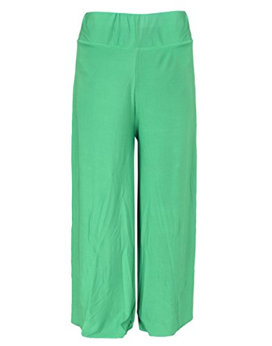 Krystle stretchable Designer Plain Casual Wear Green Palazzo Pant For Women's -...