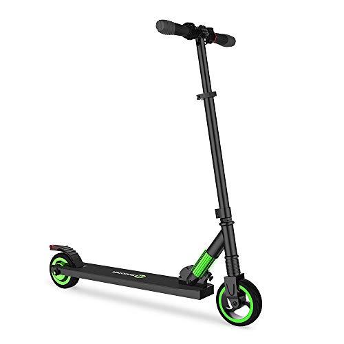 Mtricscoto Elektroscooter, Höhenverstellbar Klappbarer E-Roller, 250W, 23 km/h Höchstgeschwindigkeit Elektroroller, Leicht zu Tragen und Fahren, Geschenk für Kinder & Erwachsene (Grün)