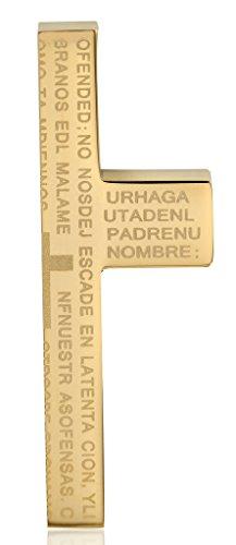 Acier Inoxydable Colliers, Forme Femmes Pendentif Chaîne Bible Lettre Demi Croix Epinki Or et Argent
