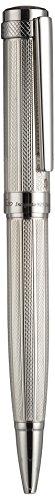 Xezo Incognito massiv 925Sterling Silber Schwere Drehkugelschreiber Event, diamantiert Gravur (Incognito 925Sterling Silber B)
