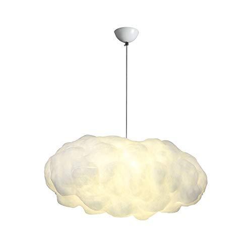 Weiße Seide Kronleuchter (Skingk Wolke Kronleuchter Pendelleuchte LED Kreative Seide Baumwolle Weiße Wolken Hotel Schlafzimmer Esszimmer Lampe Bekleidungsgeschäft Wolke Lichter Nordic E27 Kronleuchter Lampen Deckenleuchte)