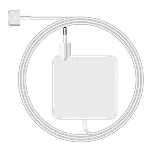 Netzter Compatible with Cargador MacBook Pro 60w Adaptador de Corriente mag Safe 2 de Cargador macbook Air 13 de Finales de 2012 T Forma Poder Adaptador.