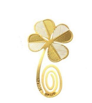 Natthom Creativo Golden Elegante Decorazione Squisita fantasia speciale per libri Segnalibro in metallo