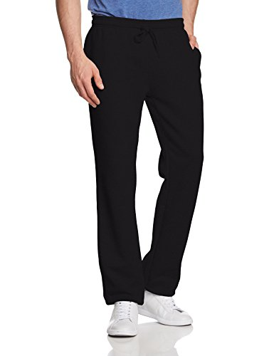Lacoste-baumwoll Trainingshose (Lacoste Herren Sporthose Regular Sweat Pants, Schwarz (Noir), Large (Herstellergröße:5))