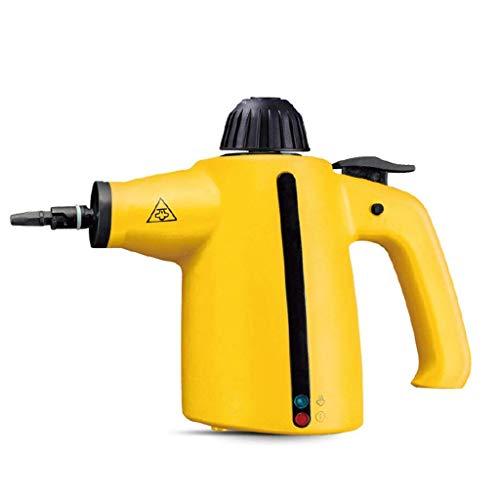 L&WB Dampfreiniger Handheld 3,5 Bar Mehrzweck Teppich Hochdruck Chemikalienfrei 9-Teiliges Zubehör - Entfernt Flecken, Vorhänge, Autositze, Fußböden, Fensterreinigung