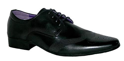 Robelli Men's Fashion Faux Leather Formal Shoes, 9 UK - Black