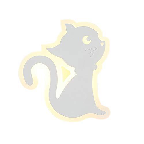 MITOYO LIGHT LED 12W Wandleuchten aus Eisen und Acryl,Karikatur Dekoration Wandlichter Kitty-Modellierung lampe Kinderlampe für Kinderzimmer Kind Wohnzimmer Schlafzimmer Spielplatz Warmweiß:3000k